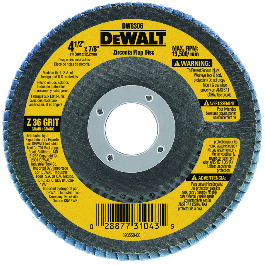 Flap Discs Abrasive & Finishing Products Forney Flap Disc 36grit 4-1/2  X 7/8