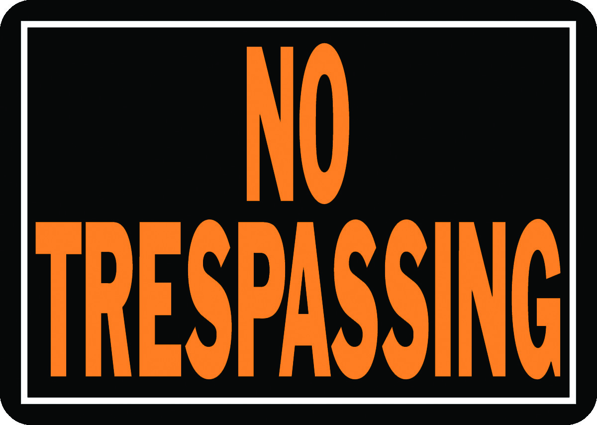 Hy Ko 804 Hy Glo 10 Inch By 14 Inch Aluminum No Trespassing Sign