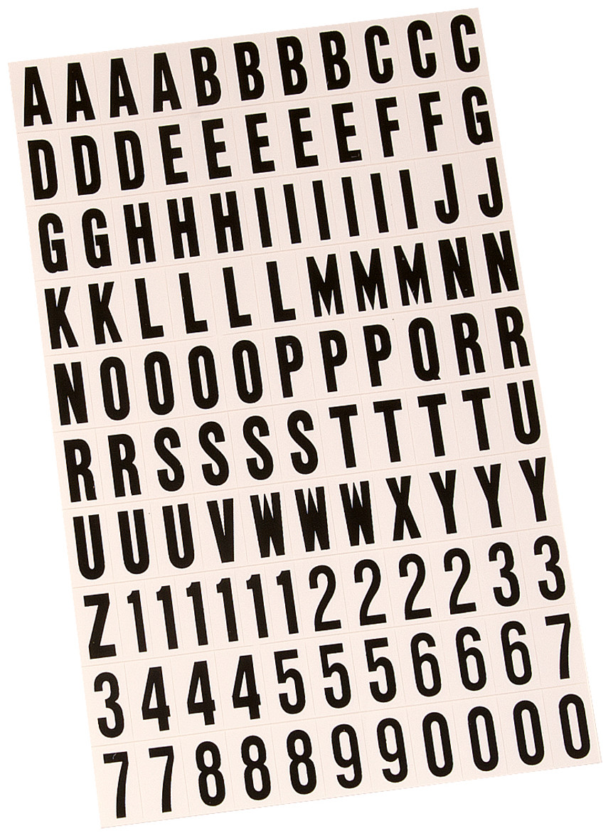 d1a89610d7f9 Hy Ko MM-6 1 Inch Black On White Vinyl Letter And Number Set (Case of 10)