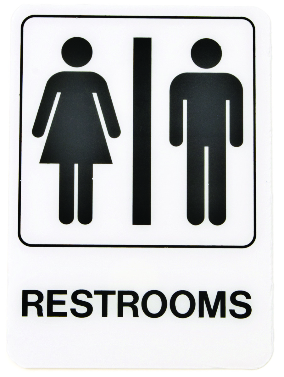Hy Ko D 23 5 Inch By 7 Inch Deco Designer Graphic Sign Restrooms