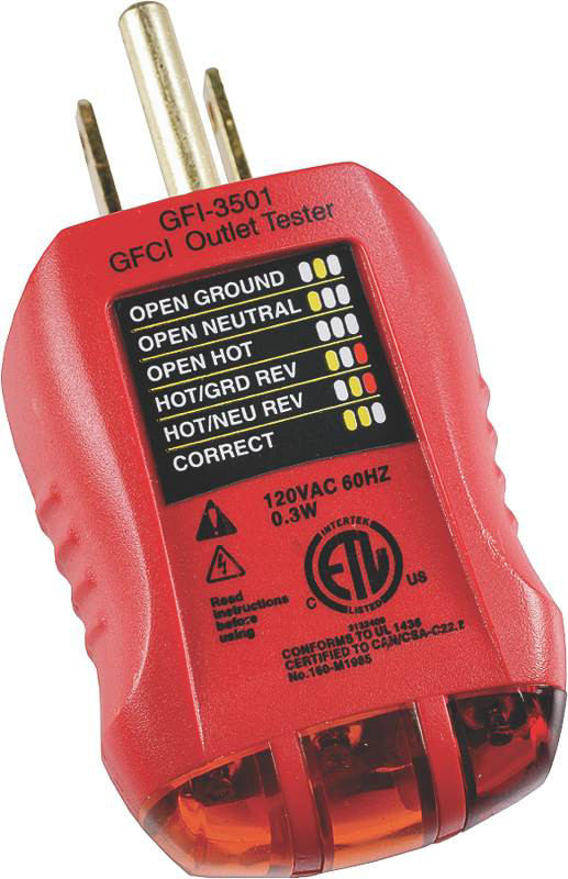 Ground Fault Indicator Testers : Gardner bender gfi ground fault receptacle and