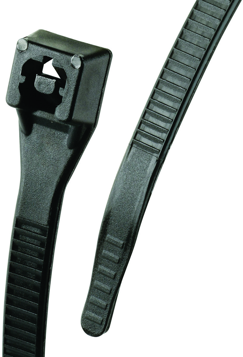 Pack of 1000 Tach-It 8 X 40 Lb Tensile Strength UV Black Protected Cable Tie