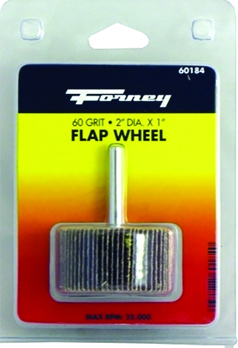 60-Grit 2-Inch-by-1-Inch Forney 60184 Mounted Flap Wheel with 1//4-Inch Shank