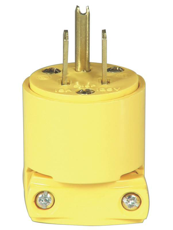 Outstanding Cooper Wiring Bp4867 3 Wire Grounded Vinyl Plug Yellow 032664130502 Wiring Cloud Hisonuggs Outletorg