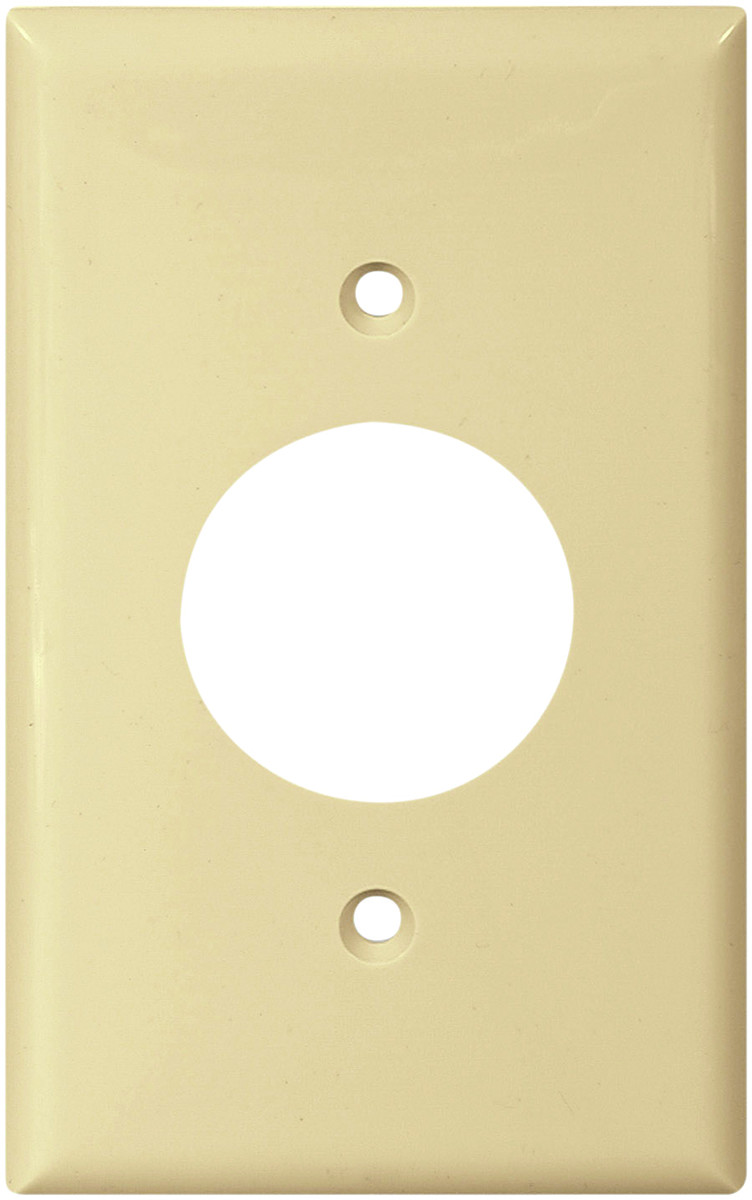 Cooper Wiring 5131V-BOX Single Outlet Wall Plate Nylon Ivory ...