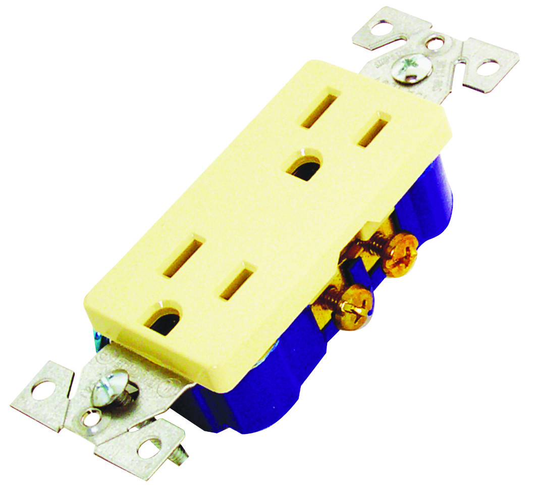Cooper Wiring 1107v Box Decorator Duplex Receptacle Ivory Wall Switch Tap To Expand