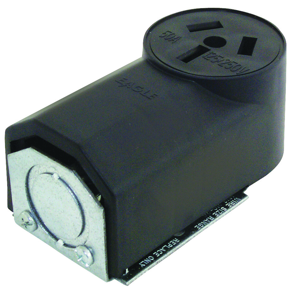 Cooper Wiring 112 50 Amp 3 Wire Range Power Receptacle 032664196409 Receptacles Tap To Expand