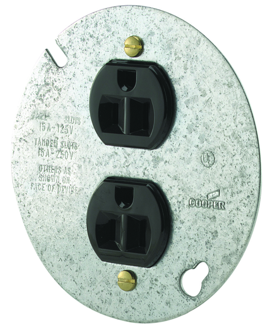 Cooper Wiring 869-BOX Duplex Recept With Steel Cover (032664282904) [1]