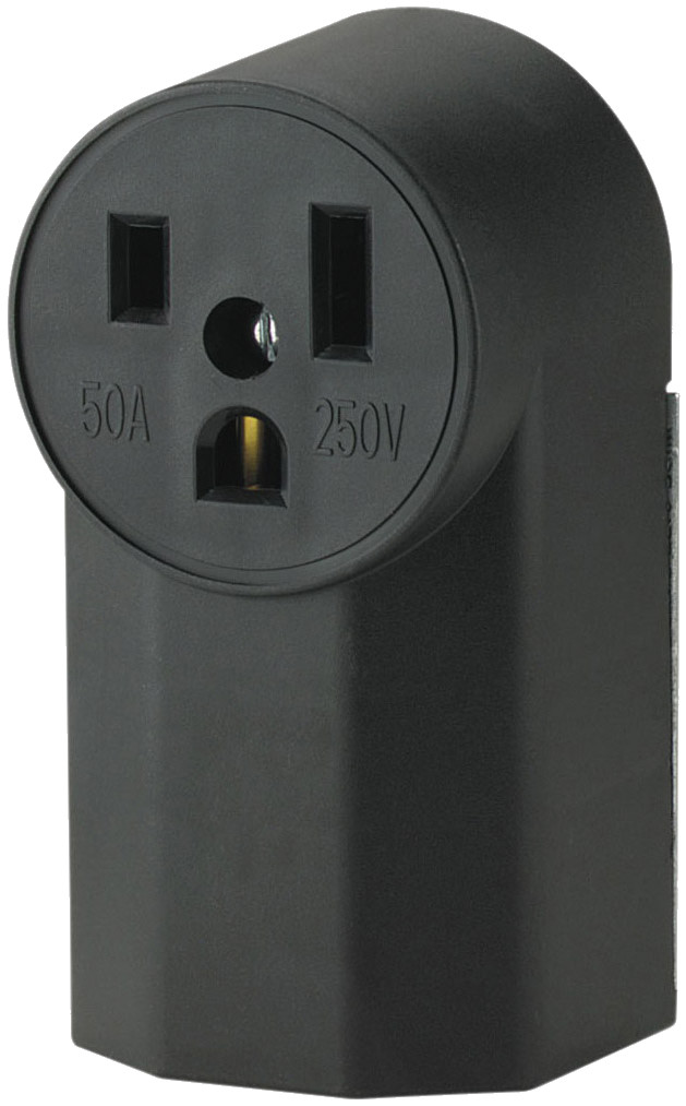 Cooper Wiring 1252 50 Amp 3 Wire Grounded Power Receptacle ...