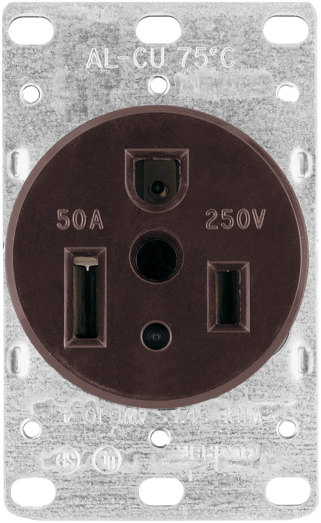 cooper wiring 1254 box 50 amp 3 wire grounded power receptacle  star wiring receptacles #4