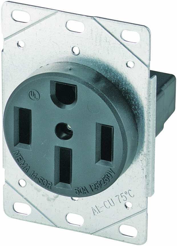 Cooper Wiring 1258-SP 50 Amp 4 Wire Grounded Power Receptacle ...