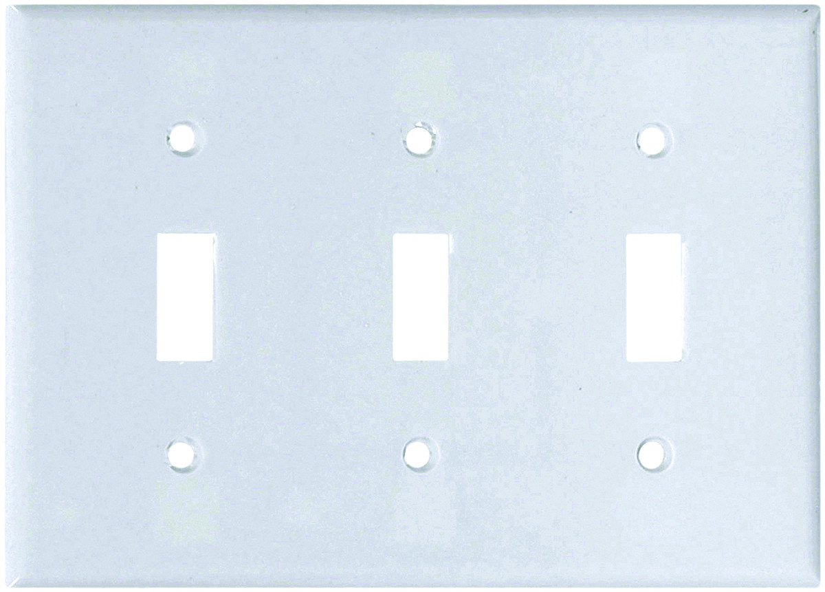 Cooper Wiring 2141w Box 3 Gang Standard Toggle Wall Plate White Plates Tap To Expand
