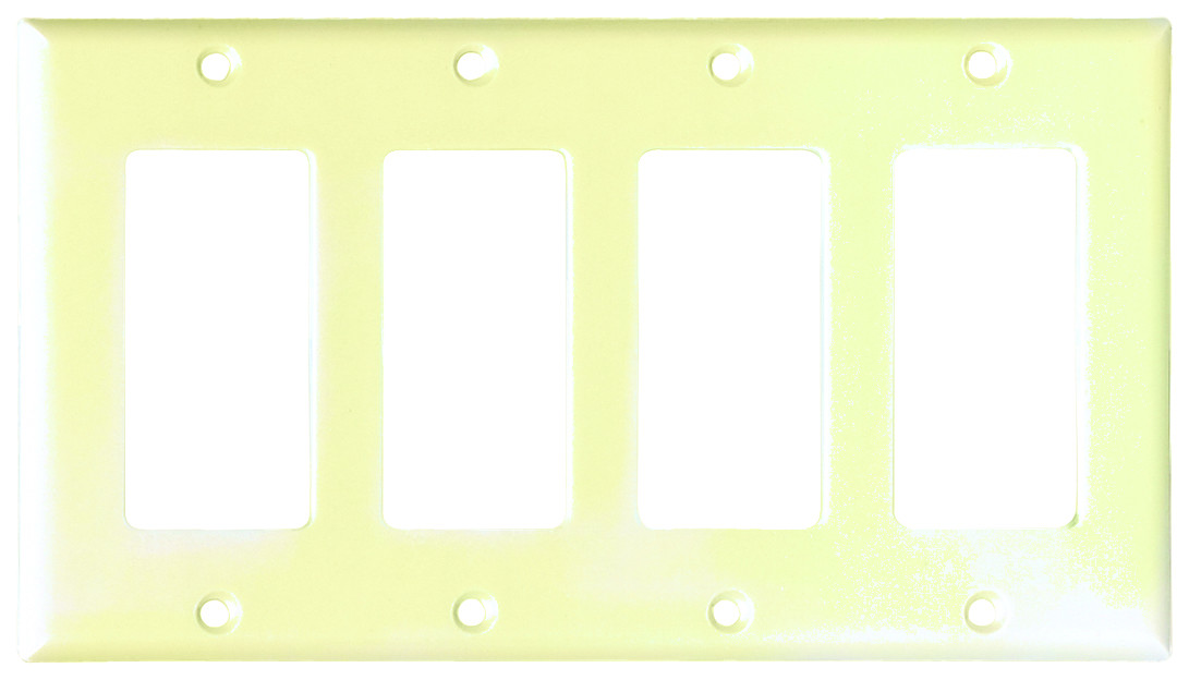 Electrical u0026 Lighting Switch Plates u0026 Wall Plates Electrical Wall Plates Ivory. Cooper Wiring 2164V-BOX Smooth Line Decorator 4 Gang Wallplate Ivory  sc 1 st  HardwareAndTools.com & Cooper Wiring 2164V-BOX Smooth Line Decorator 4 Gang Wallplate Ivory ...
