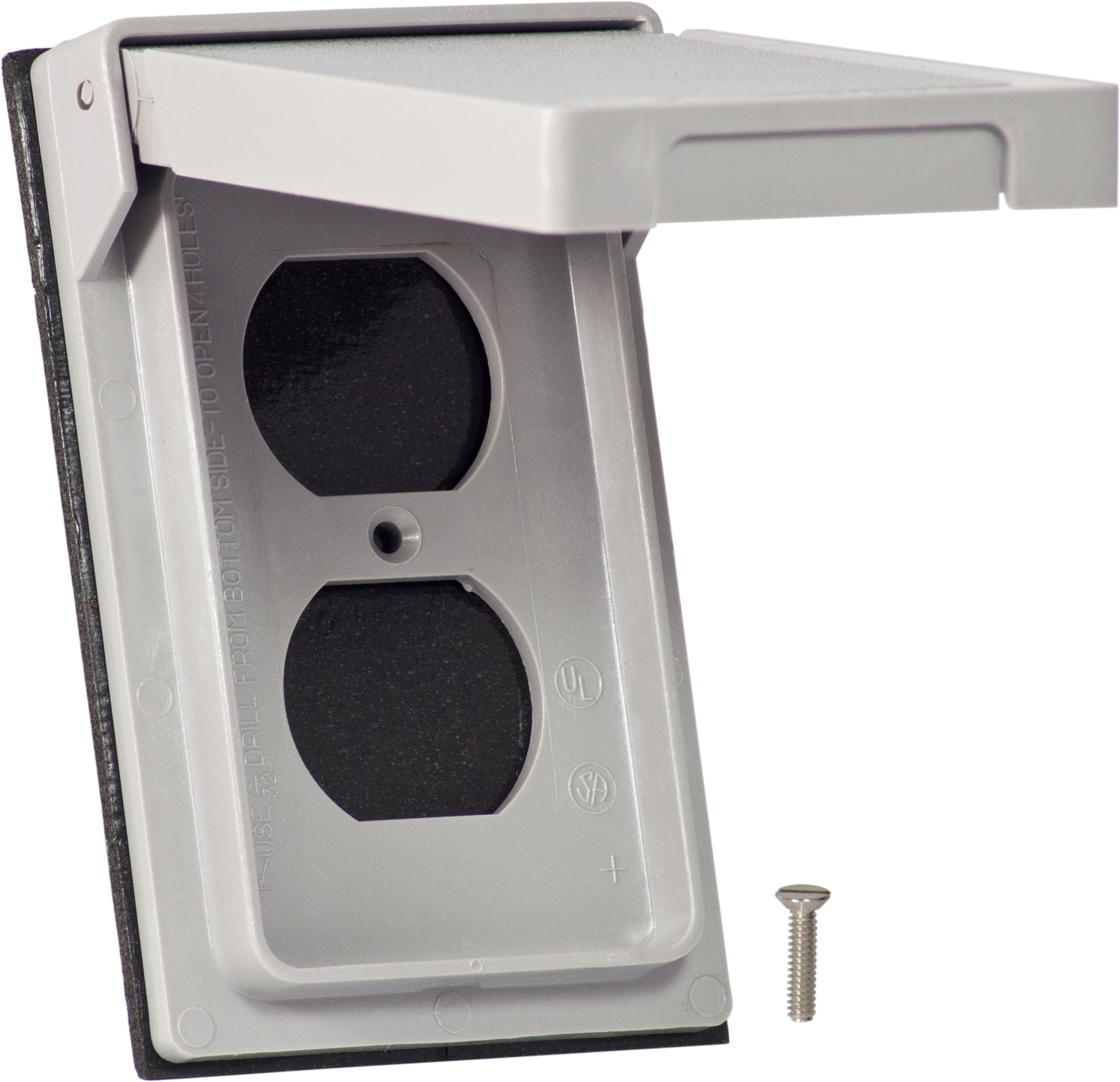 Cooper Wiring S2962 1 Gang Duplex Receptacle Cover Gray ...