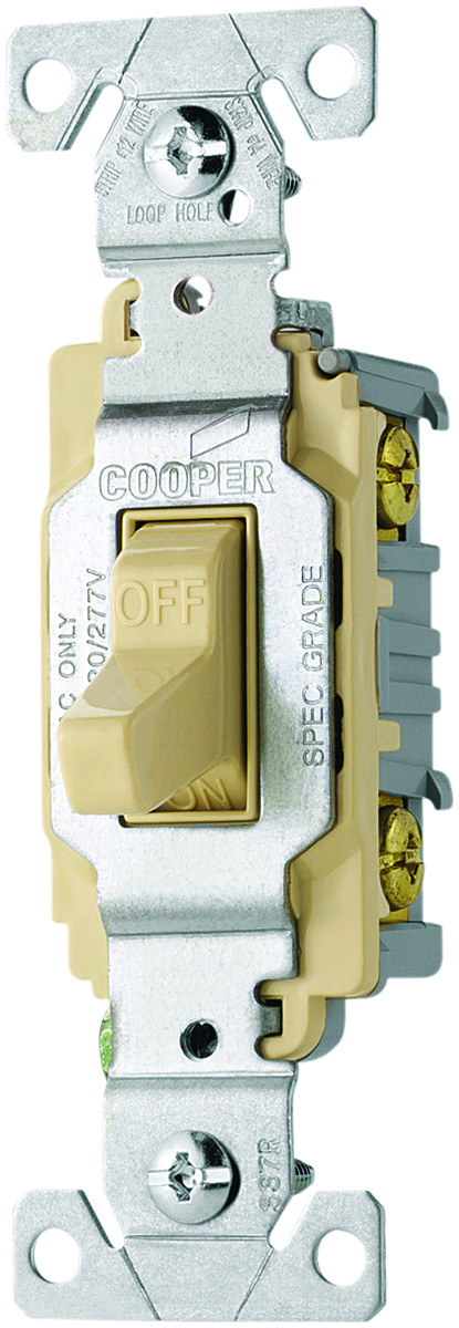 Cooper Wiring CS220V Toggle Light Switch 20A Double (032664488351) [1]