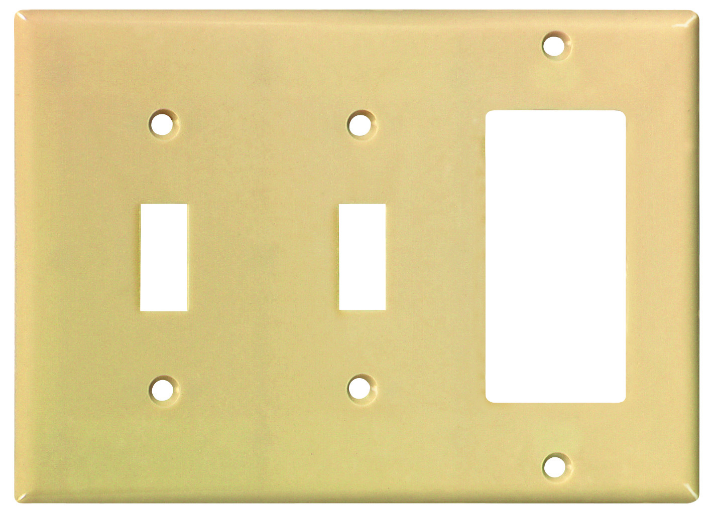 Cooper Wiring 2173V-BOX 3 Gang Ivory 2 Toggle And Decorative Plate ...