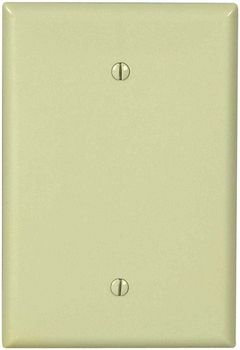 Cooper Wiring 2729V-BOX 1 Gang Oversize Blank Wall Plate Ivory ...