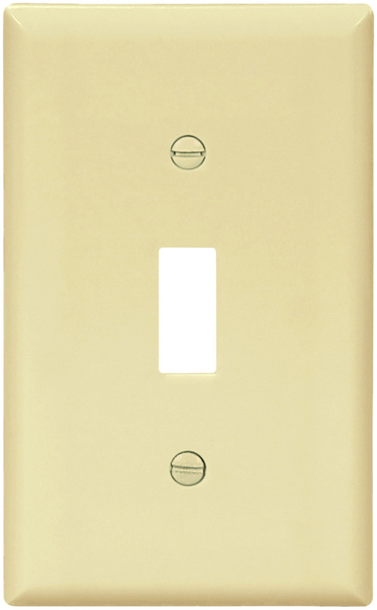 Cooper Wiring BP5134V 1 Gang Toggle Plate Ivory Carded (032664547836 ...