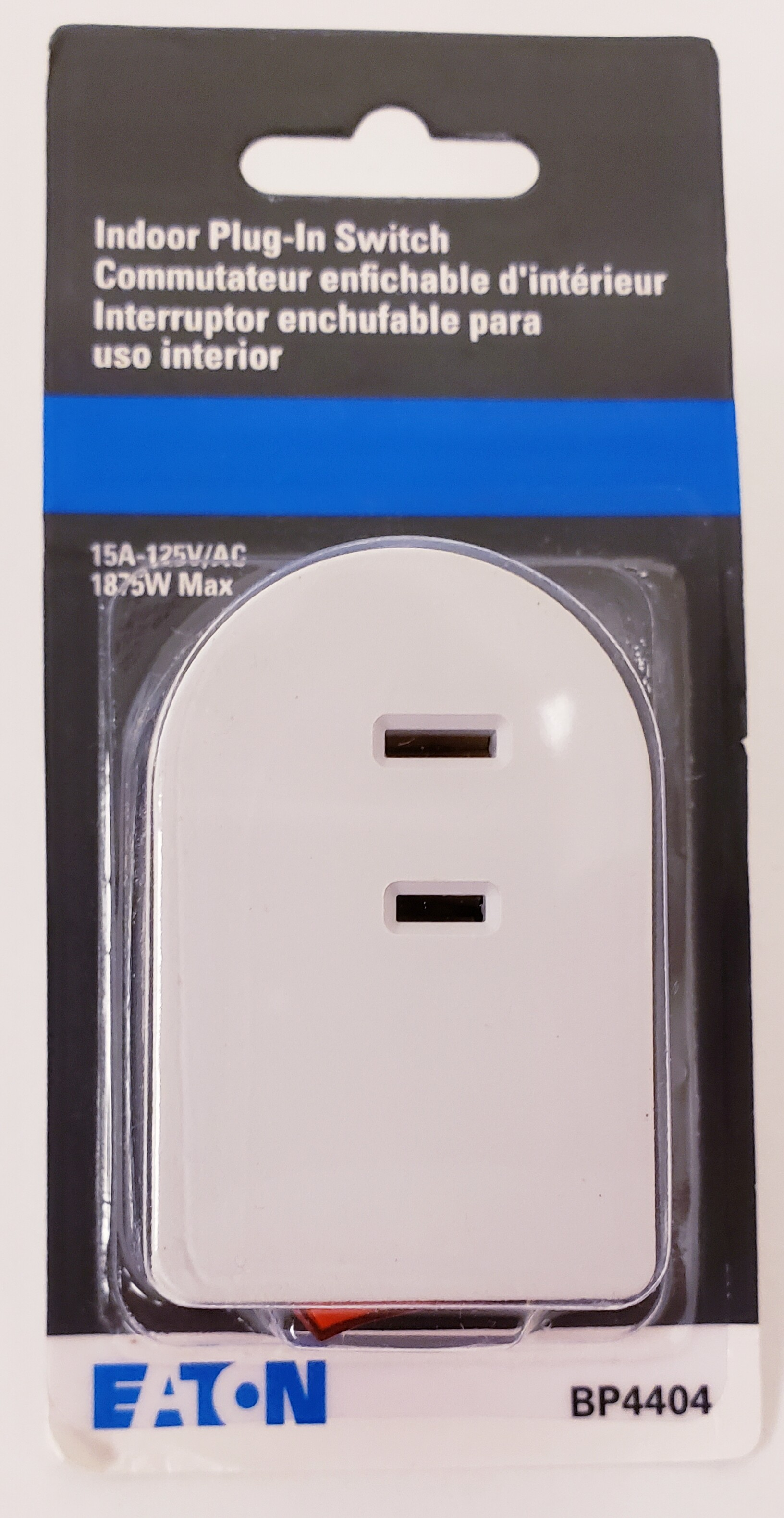 Cooper Wiring Bp4404w Polarized Plug In Switch 15 Amp White Outlet Tap To Expand