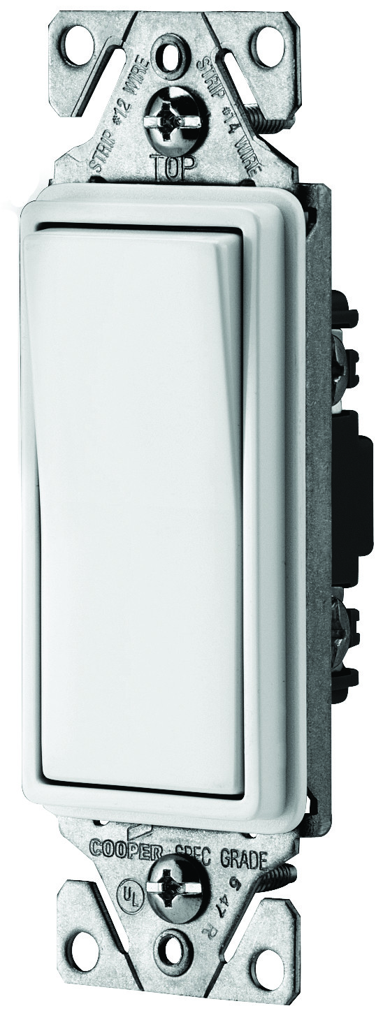 Cooper Wiring 7501w Decorative Rocker Switch White 032664627606 1 Quiet Toggle Single Pole Lighted 15 A 120 V Ivory Electrical Lighting In Wall Switches Receptacles
