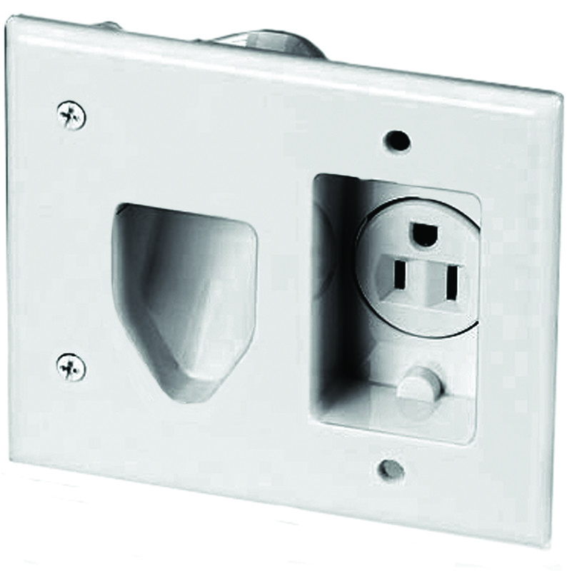 Tremendous Cooper Wiring 35Mrw Multimedia Wallplate With Recessed Single Wiring Database Gramgelartorg