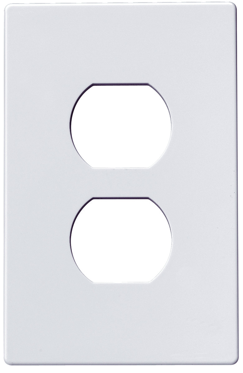Cooper Wiring Pjs8w Screwless Wallplate 1 Gang Duplex Receptacle A Light Switch White Tap To Expand