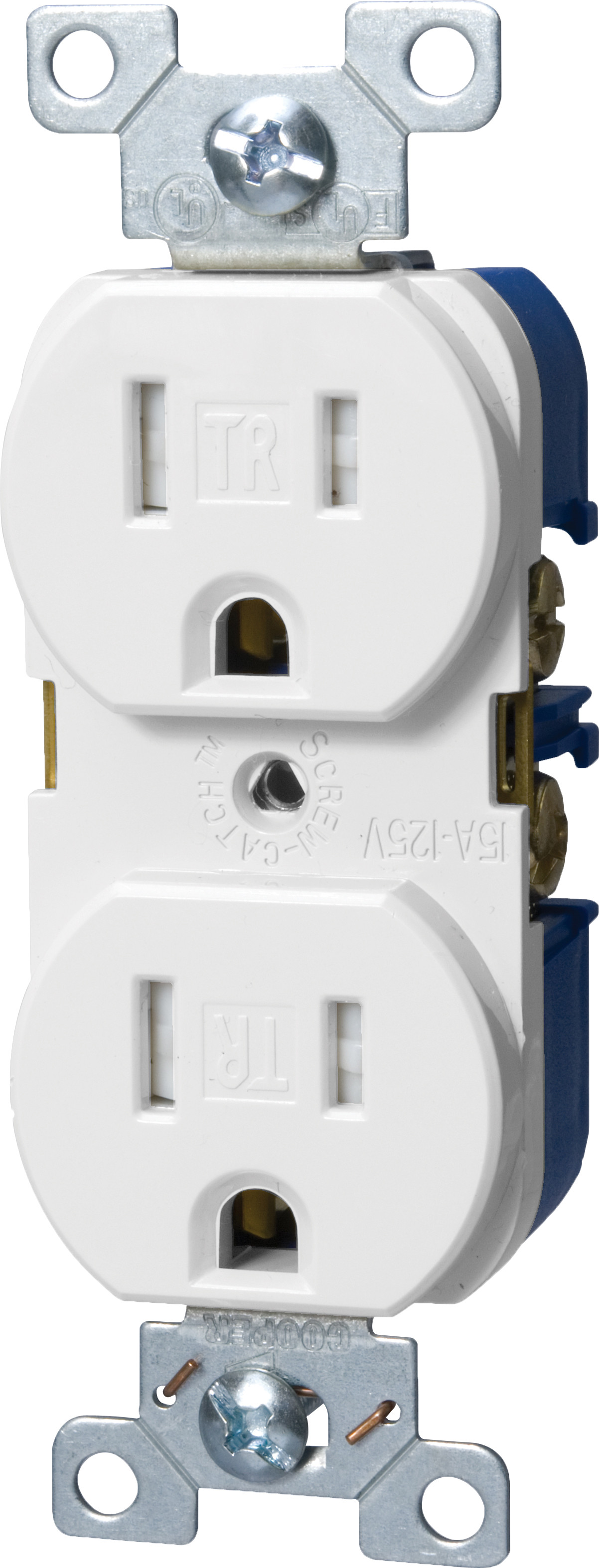Cooper Wiring Trbr15w Bxsp Tamper Resistant Nema 5 15r Duplex Receptacle Tap To Expand