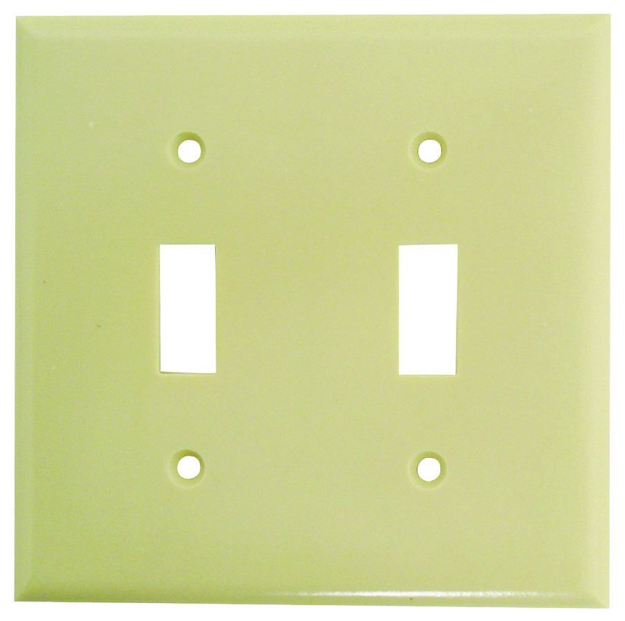 Cooper Wiring 2139v Box 2 Gang Toggle Switch Wall Plate Ivory