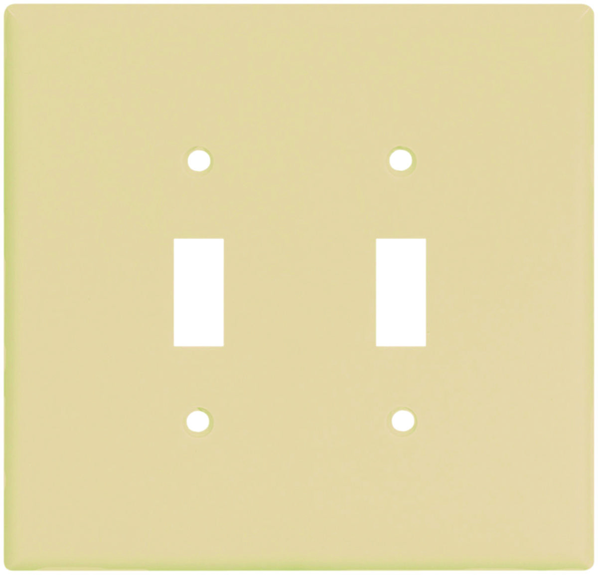 Cooper Wiring 2149V-BOX 2 Gang Oversize 2 Toggle Wall Plate Ivory ...