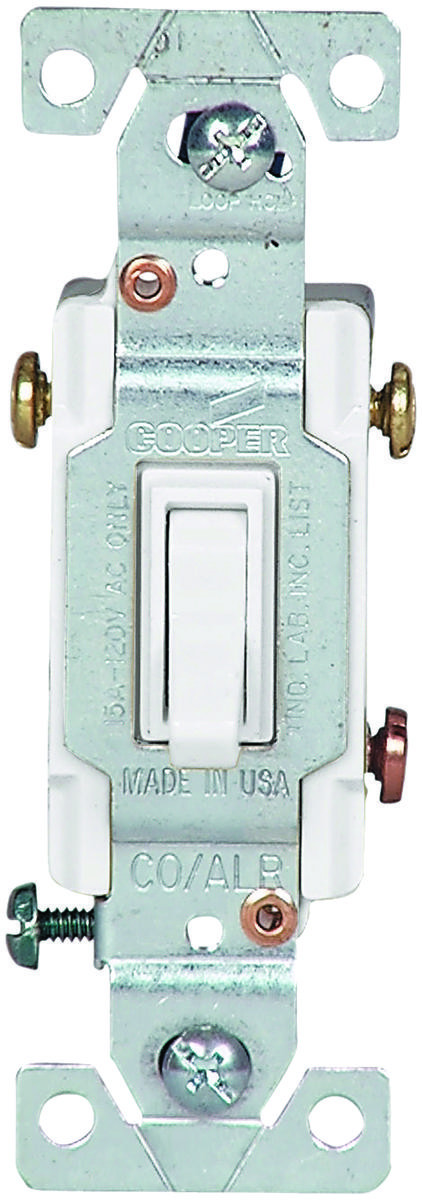 Cooper Wiring 5223-7W-BU Copal 3 Way Toggle Switch 15 Amps 120 Volts ...