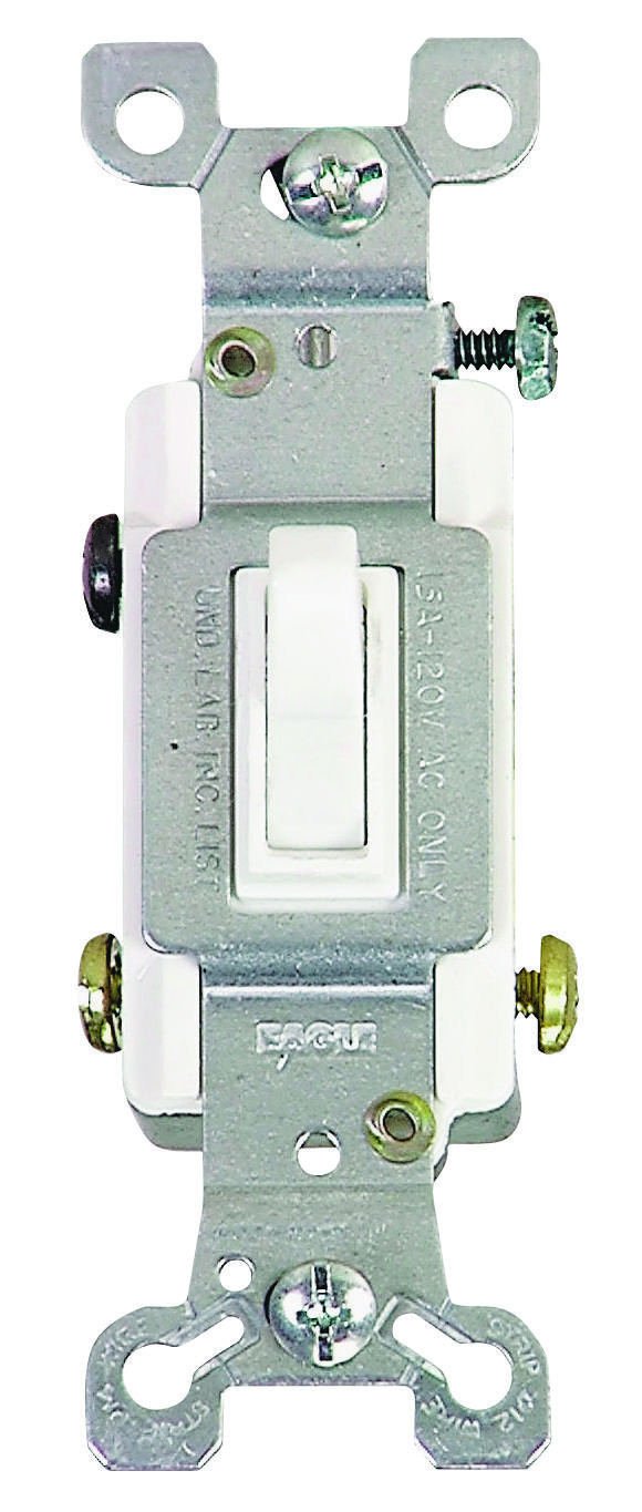 Cooper Wiring 1303 7w Box 3 Way Grounded Toggle Switch White And Receptacle Electrical Lighting In Wall Switches Receptacles Decor