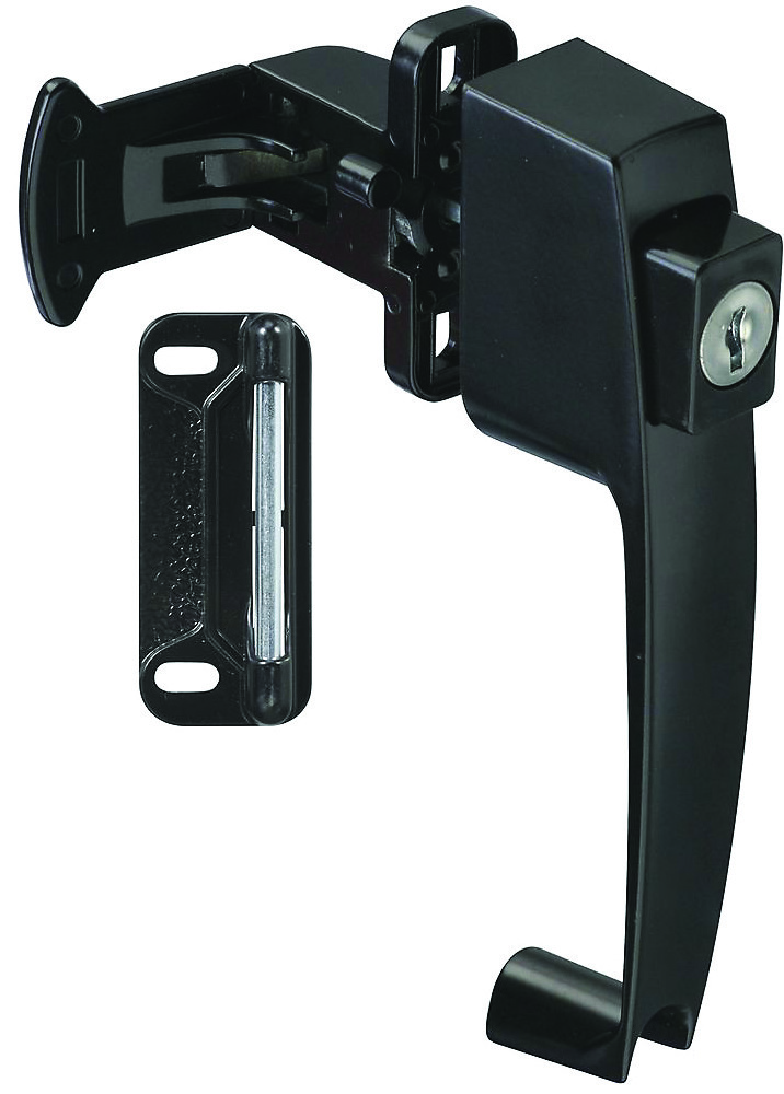 National Hardware S748-272 N178-376 Stanley Push Button Storm Door Key  Latch Black