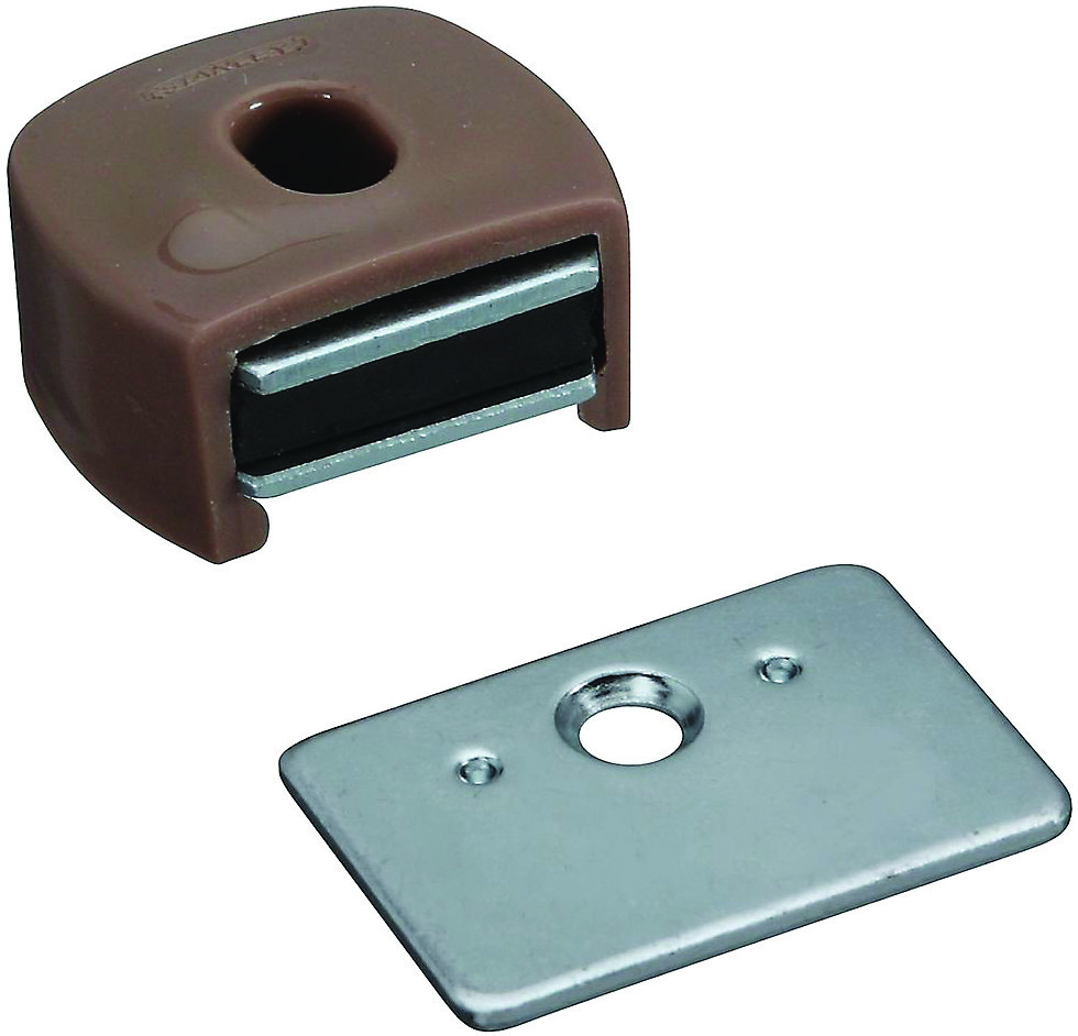 National Hardware S711 030 N710 506 Stanley Magnetic Spring Cabinet Catch Tan