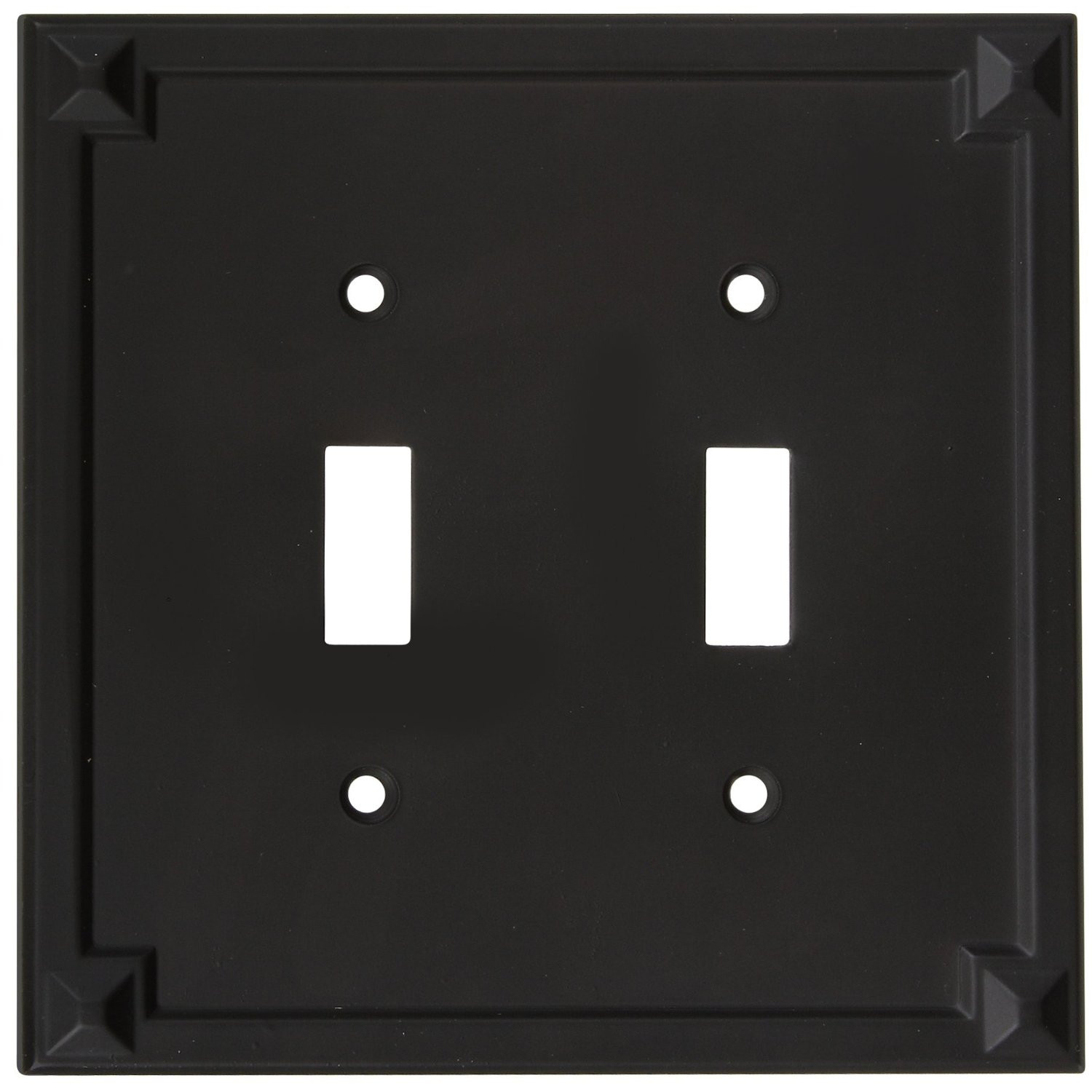 National Hardware S803-684 Stanley Prairie Double Switch Wall Plate ...