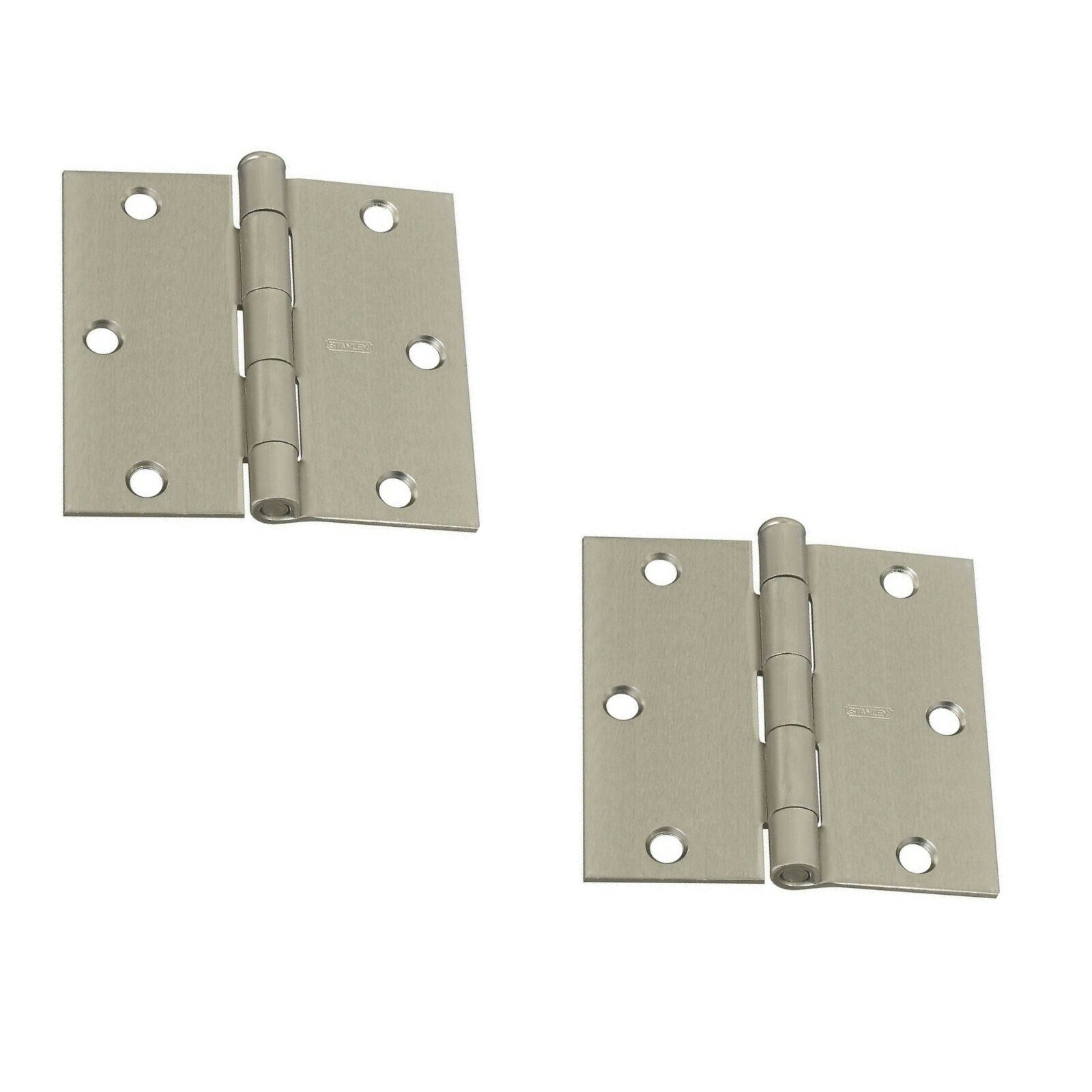 2 pack Stanley Hardware S808-063 V8027 Door Hinges in Satin Nickel