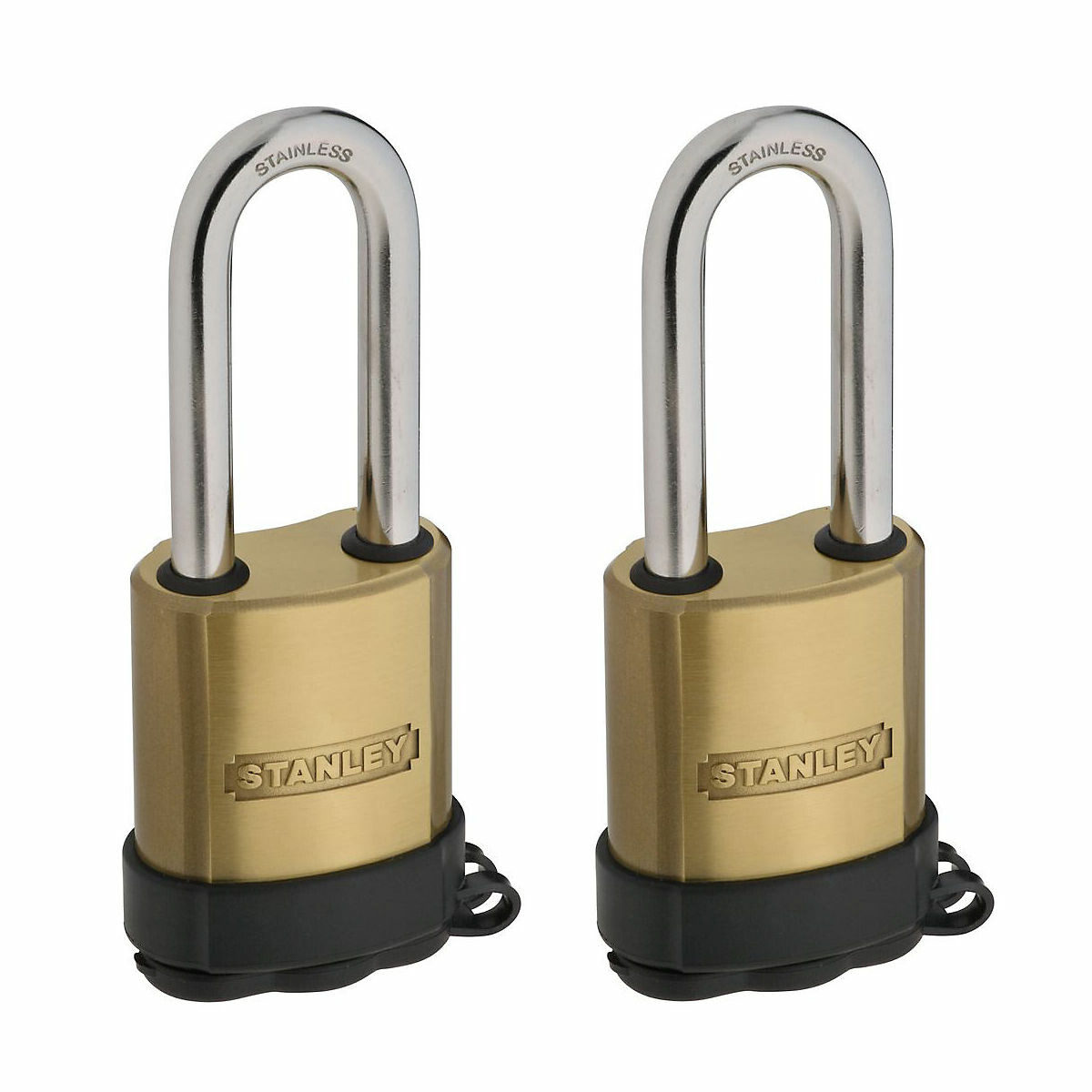 Stanley Hardware S828-210 CD8822 All-Weather Padlock in Solid Brass 2 pack