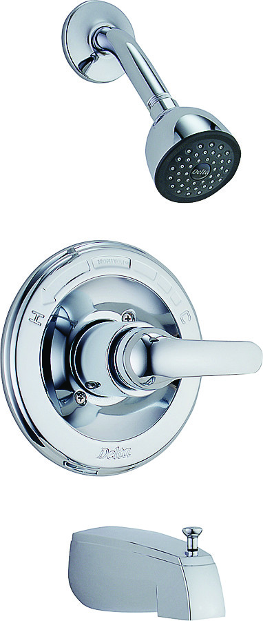 Delta Faucet 1343 Classic Tub And Shower Faucet Monitor Single