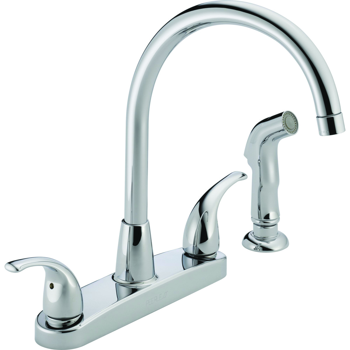 Delta Faucet P299578LF Peerless Kitchen Faucet 2 Lever Handle Hi Arc Swivel Spout With Side Spray Chrome (034449652216) [1]  sc 1 st  HardwareAndTools.com : peerless kitchen faucets - hauntedcathouse.org