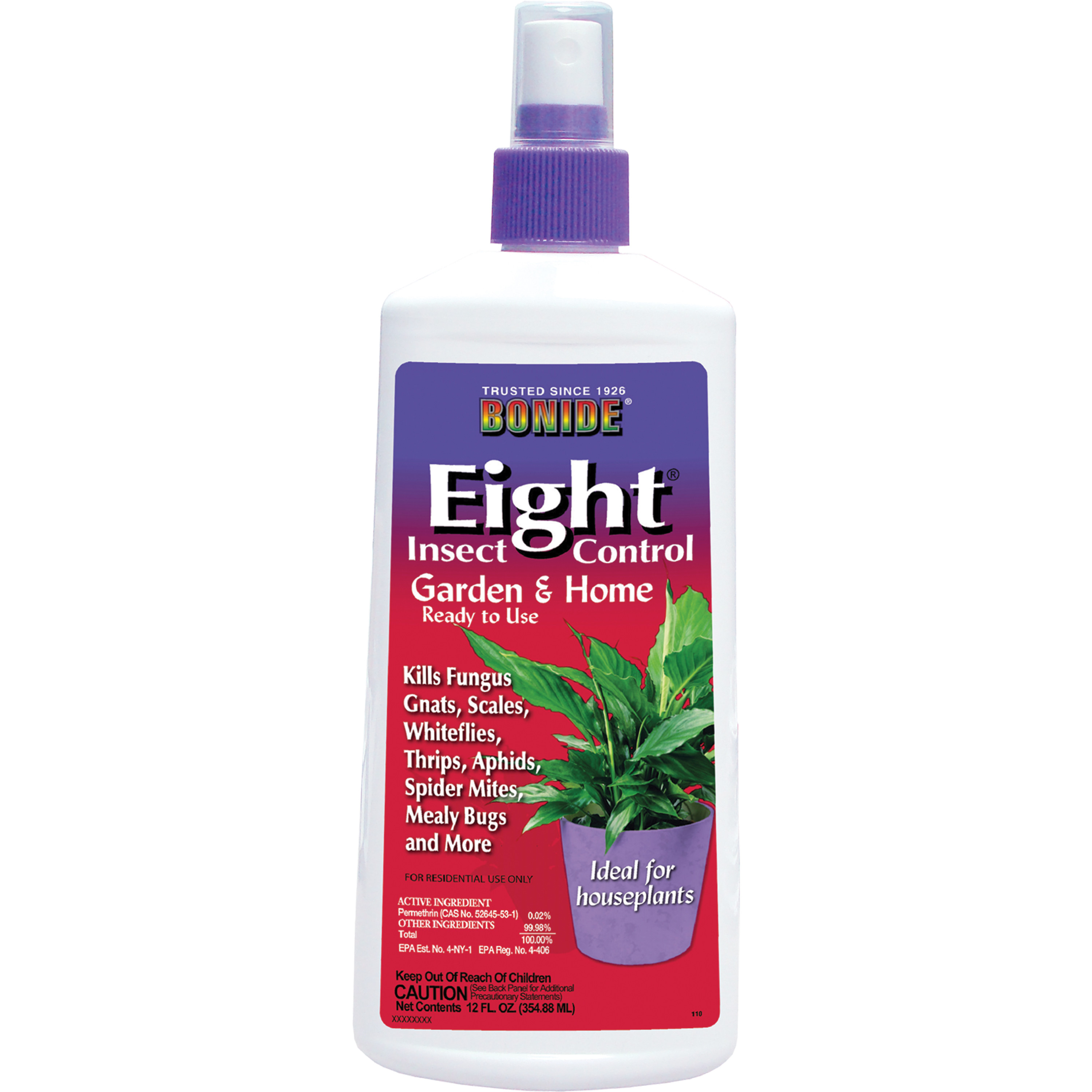 Bonide 110 Eight Insect Spray Houseplant 12 Ounce