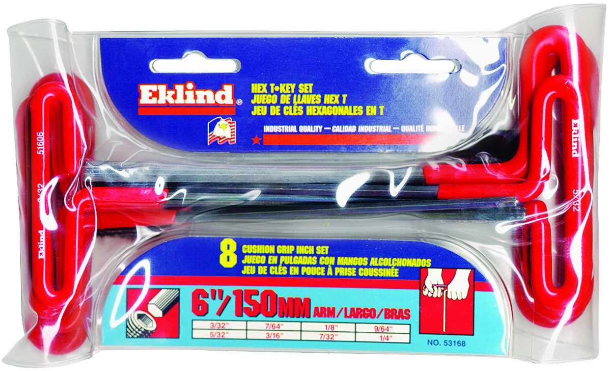 "Black Eklind 5//16/"" x 9/"" T Handle Hex Key Wrench"