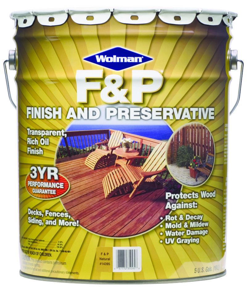 Wolman 5 Gal F P Natural Exterior Wood Stain Finish And