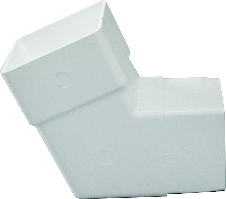 White Vinyl 90 Degree RW209 GENOVA PRODUCTS Gutter Downspout Elbow