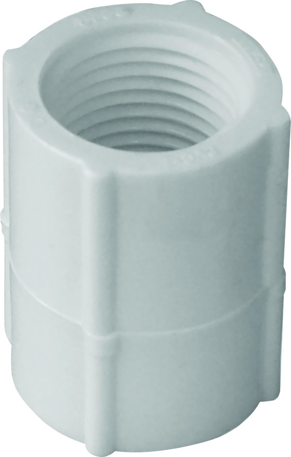 Genova 30125 1/2 Inch White Threaded Coupling FIP X FIP