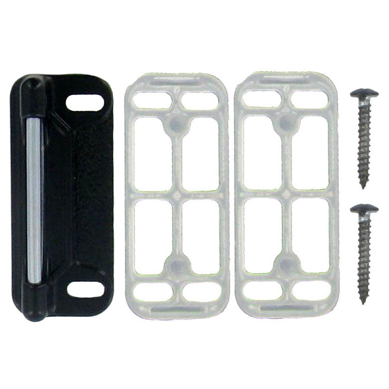 National Hardware N162 057 Satin Black Replacement Strike Plate With Shims 038613162051 3