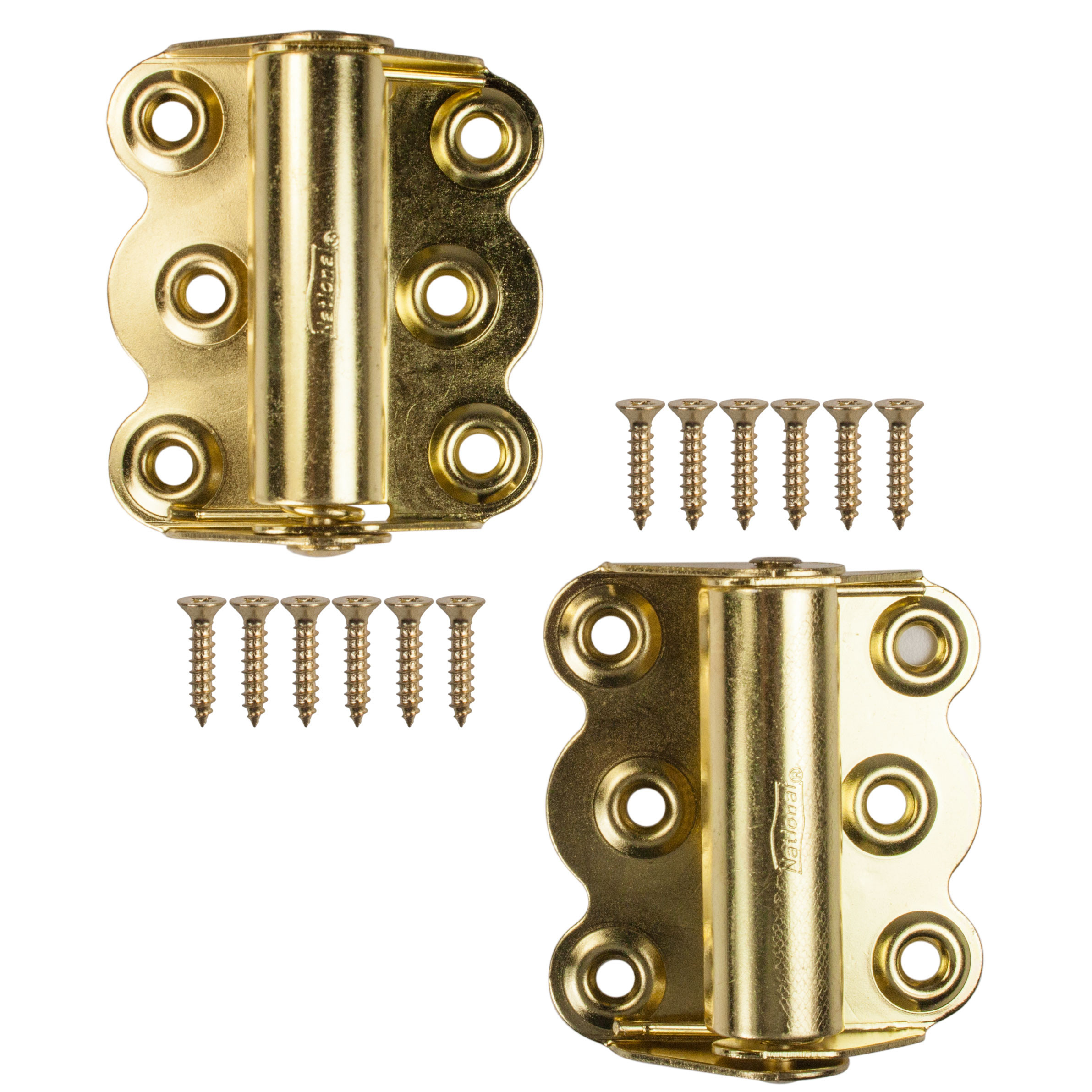 2 pack National Hardware N190-736 V122 Spring Hinges in Zinc plated