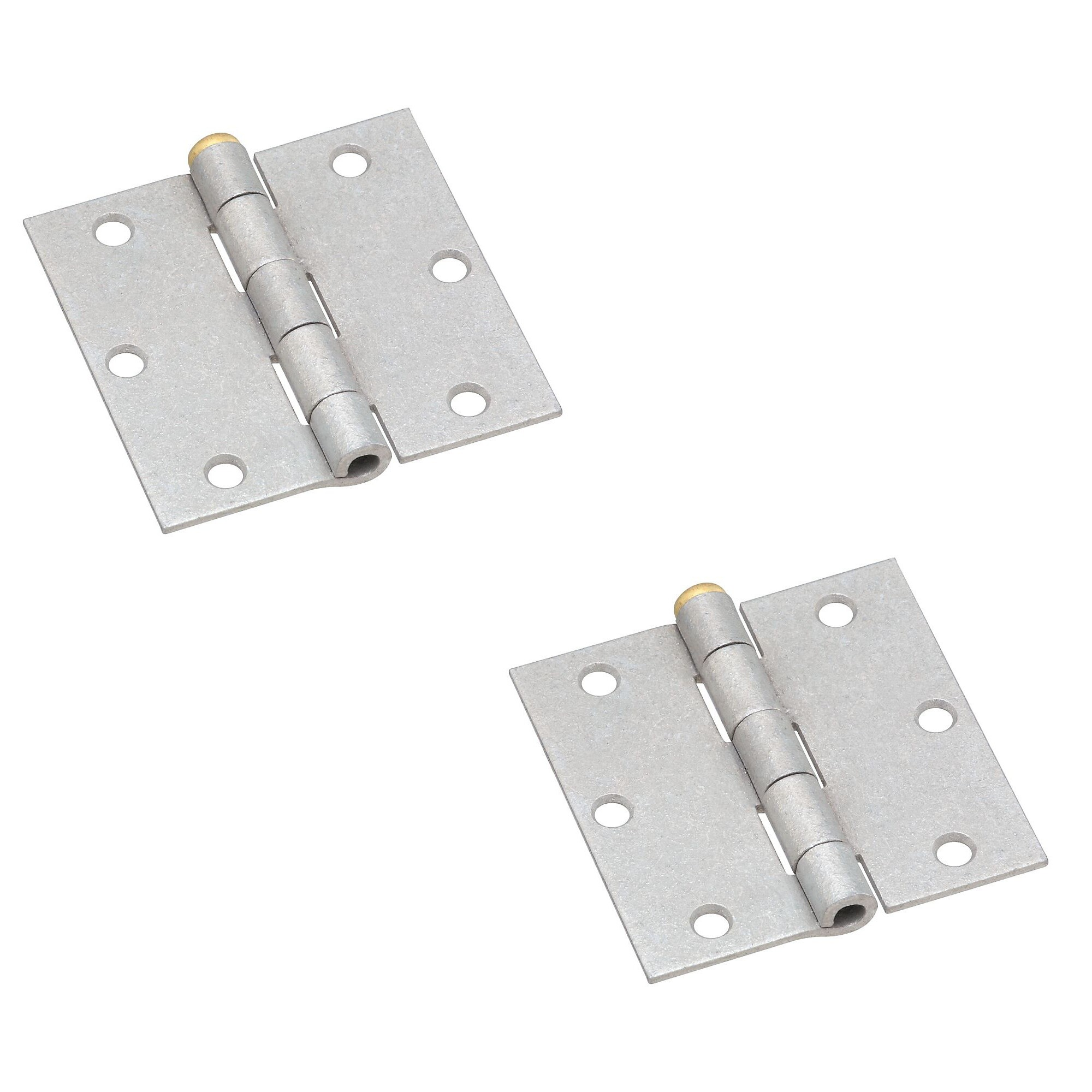 National Hardware N208-827 V504 Removable Pin Broad Hinges in Galvanized 2 pack