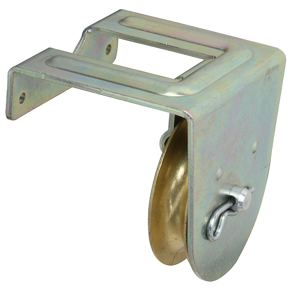 National Hardware N233-262 Joist Mount Single Pulley 2 Inch Zinc Plated  Steel Body