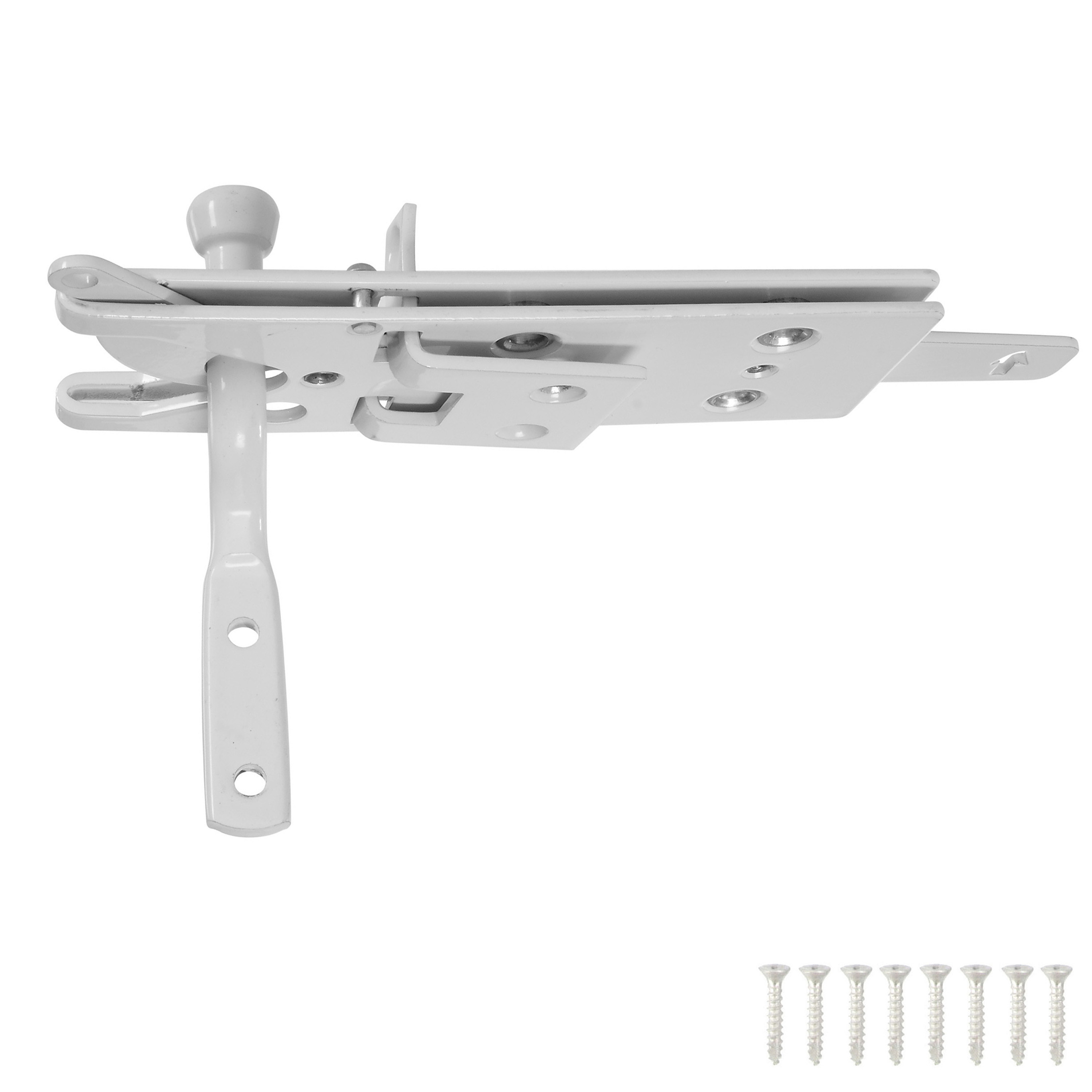 National Hardware  Steel  Automatic  Gate Latch  White  1