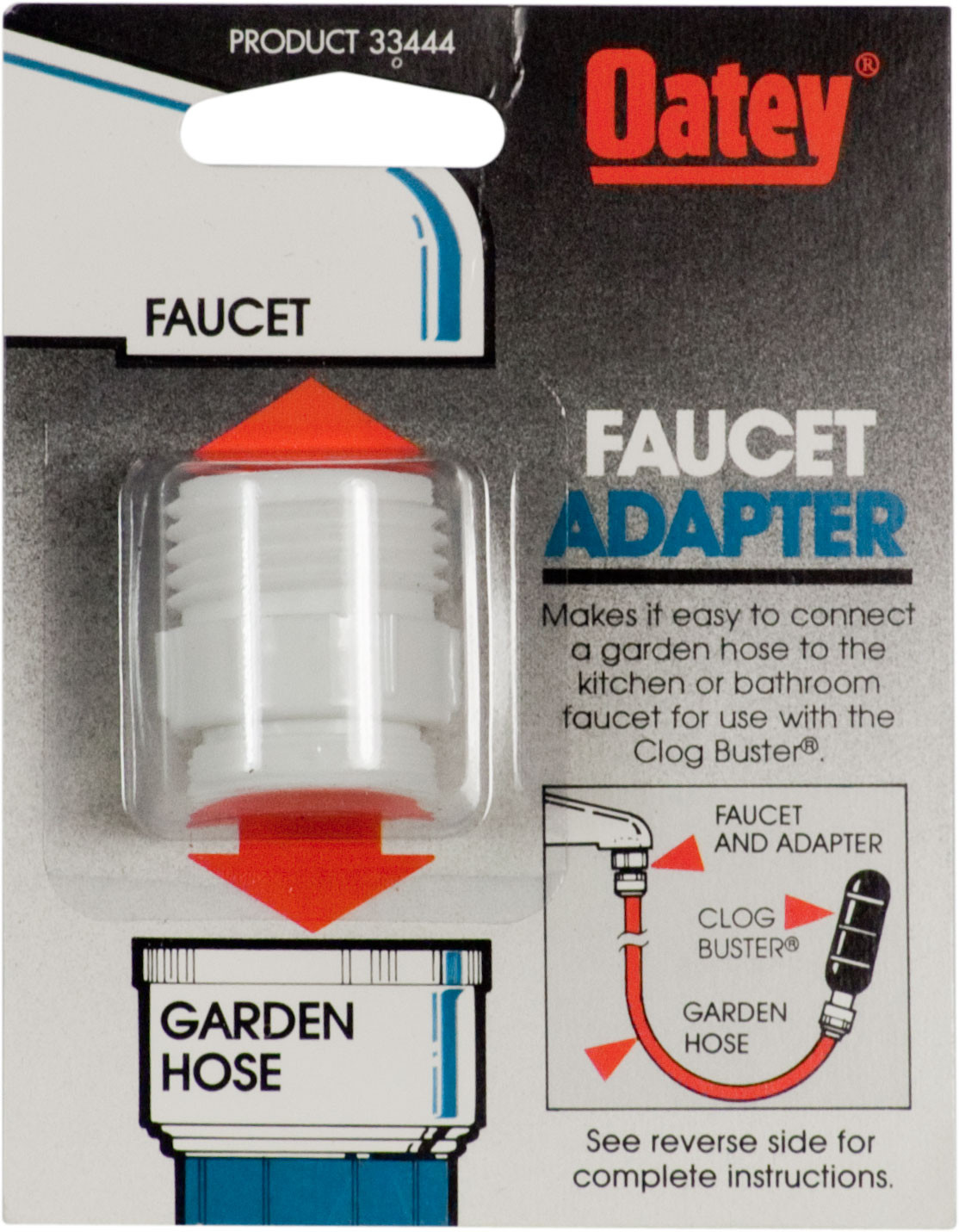 Oatey 33444 Faucet Adapter To Connect A Garden Hose To A Kitchen Or Bath Faucet 038753334448 1