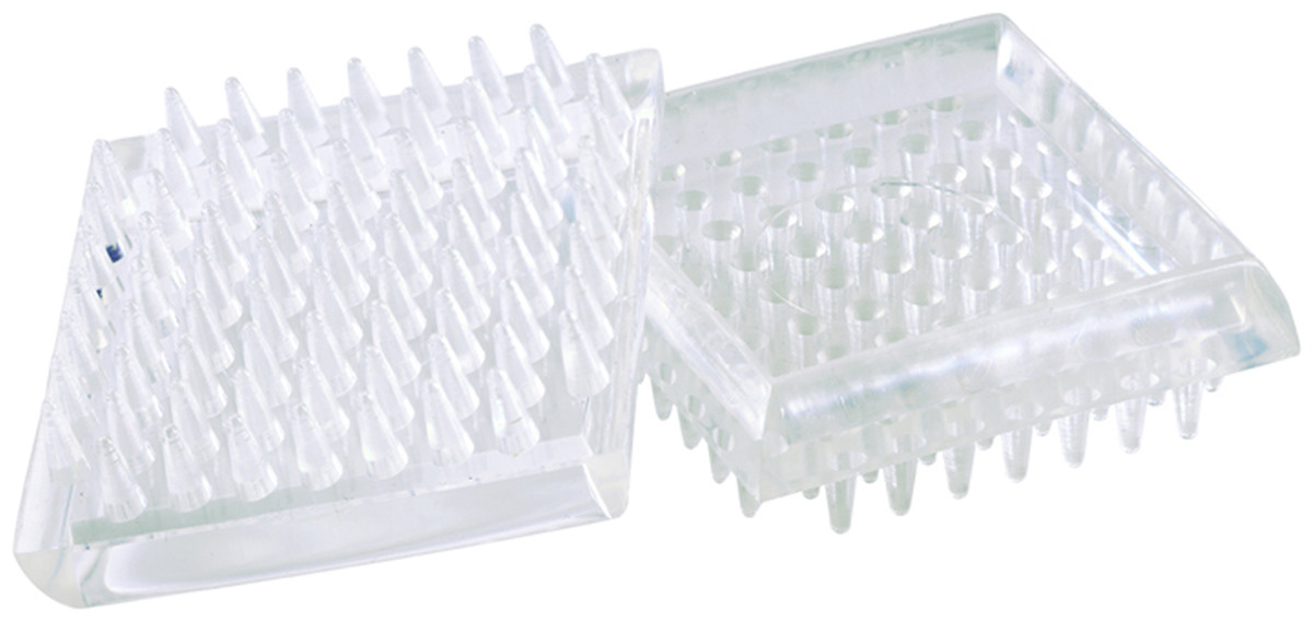 Shepherd Hardware Not Available 9088 1-7//8-Inch Smooth Plastic Furniture Cups Clear 4-Pack